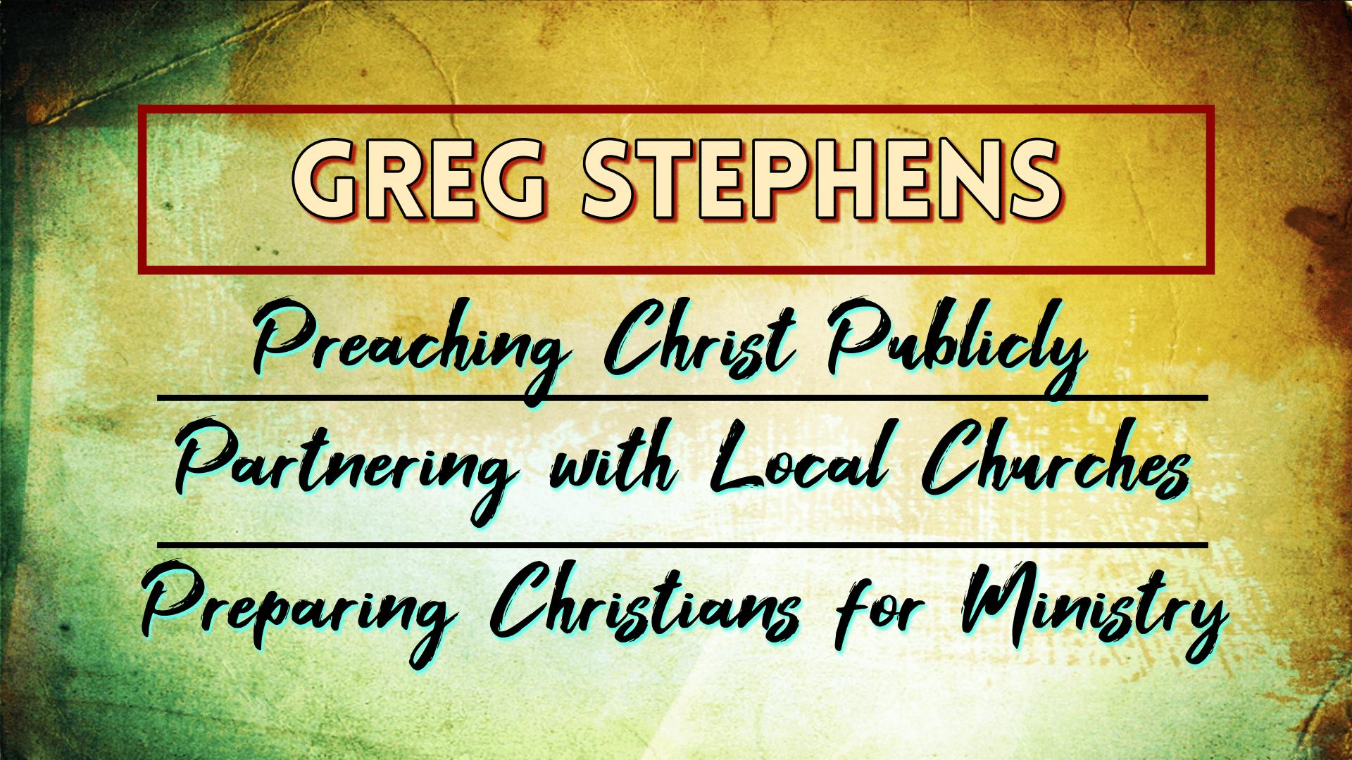 The Gospel of Jesus Christ - Greg Stephens