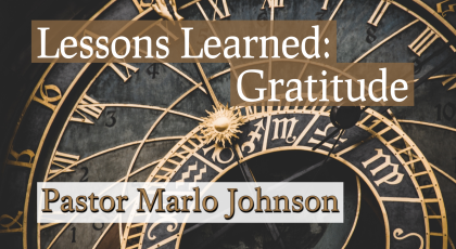 Lessons Learned – Gratitude